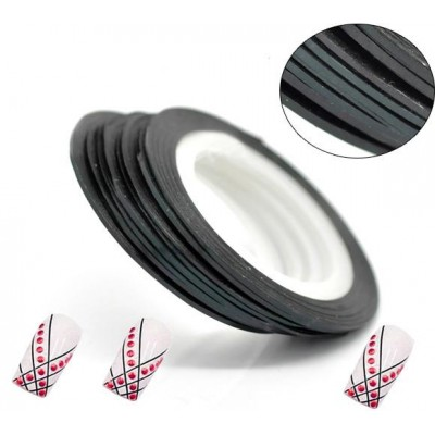 Лента для дизайна ногтей Black