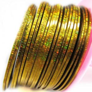 """Лента для дизайна ногтей """"Laser Gold"""""""