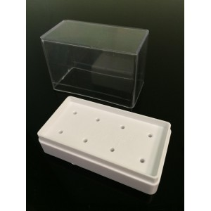 Подставка для насадок прямоугольная на 8 насадок (белая)