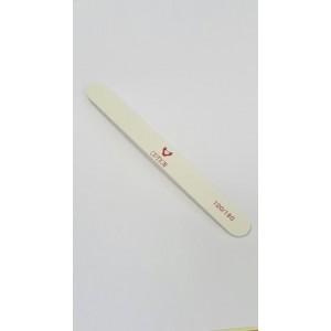Пилка для натуральных и искусственных ногтей 100/180 (белая прямая)